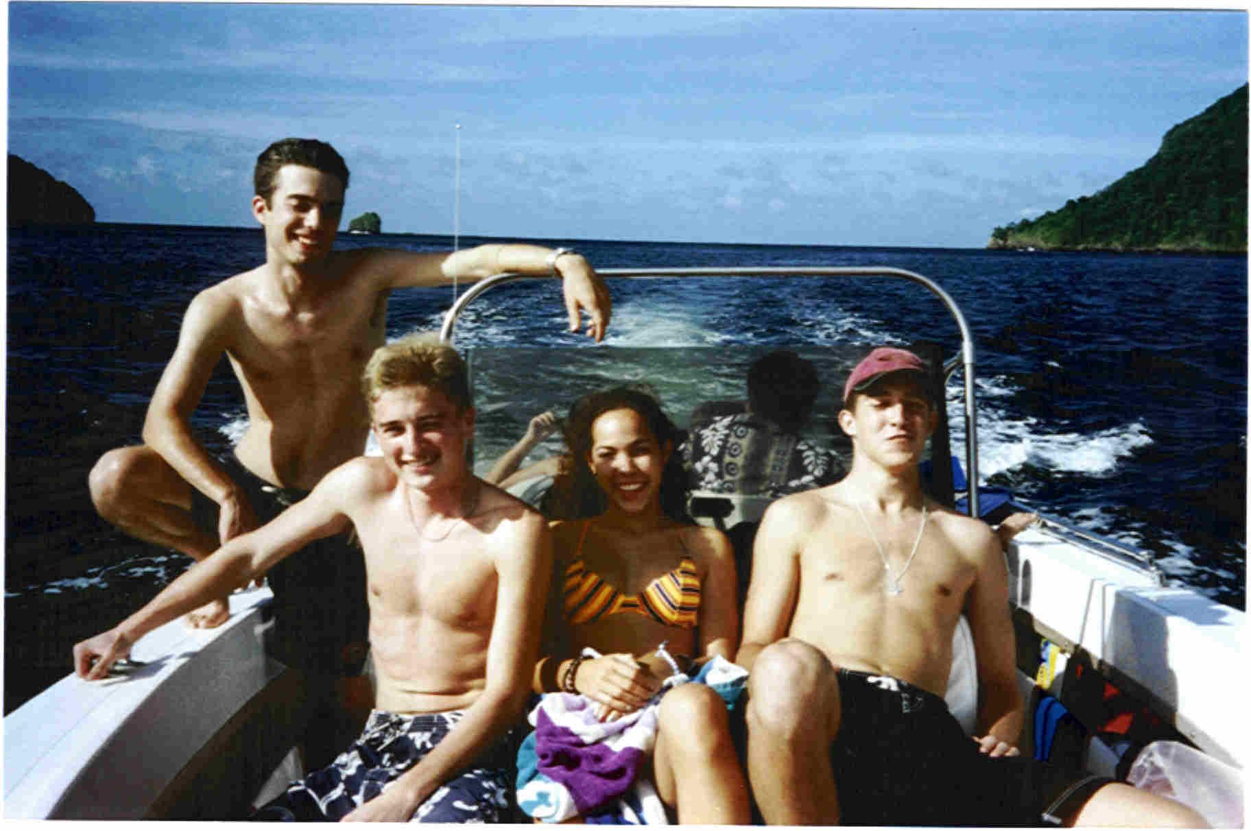 Us in my boat